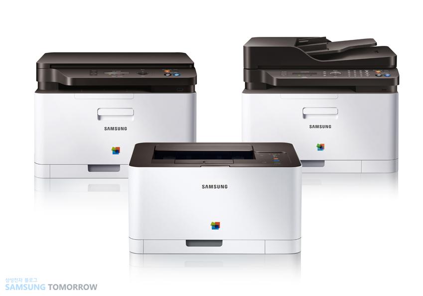 세계 최초 NFC 지원 컬러 레이저 프린터 복합기 C410W 시리즈입니다.
