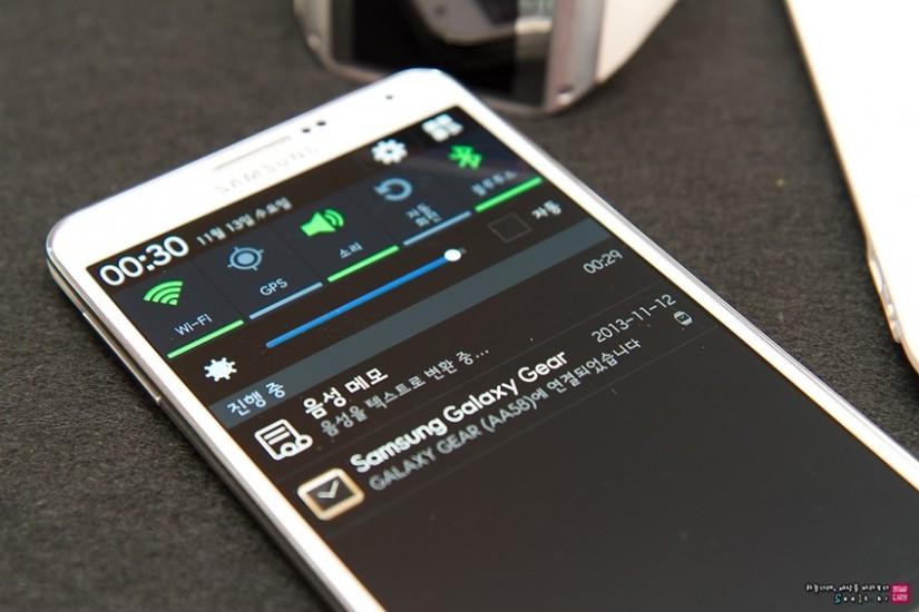 갤럭시노트3로 전송한 음성 파일이 자체적으로 텍스트로 변환되는 이미지입니다.