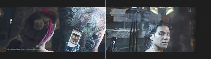 팔카오 선수가 등뒤에 문신을 새기고 있습니다.