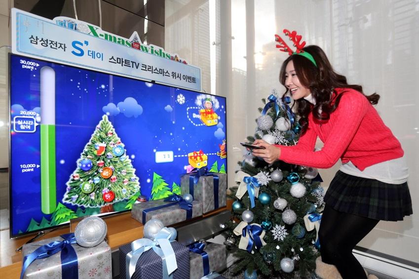 삼성전자가 오는 12월 29일까지 삼성 스마트TV를 통해 소외된 이웃에 사랑을 전하는 <삼성전자 S'데이 스마트TV 크리스마스 위시> 이벤트를 진행합니다.