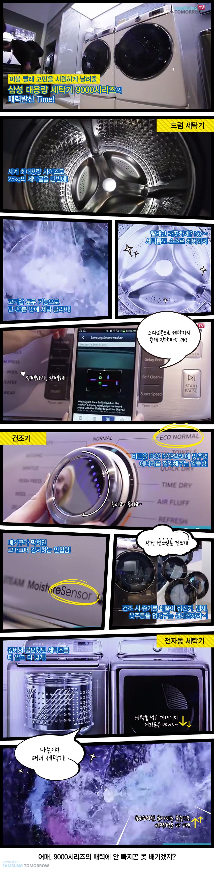 CES 2014 핸즈온 영상을 통해 소개된 삼성 대용량 세탁기 9000시리즈