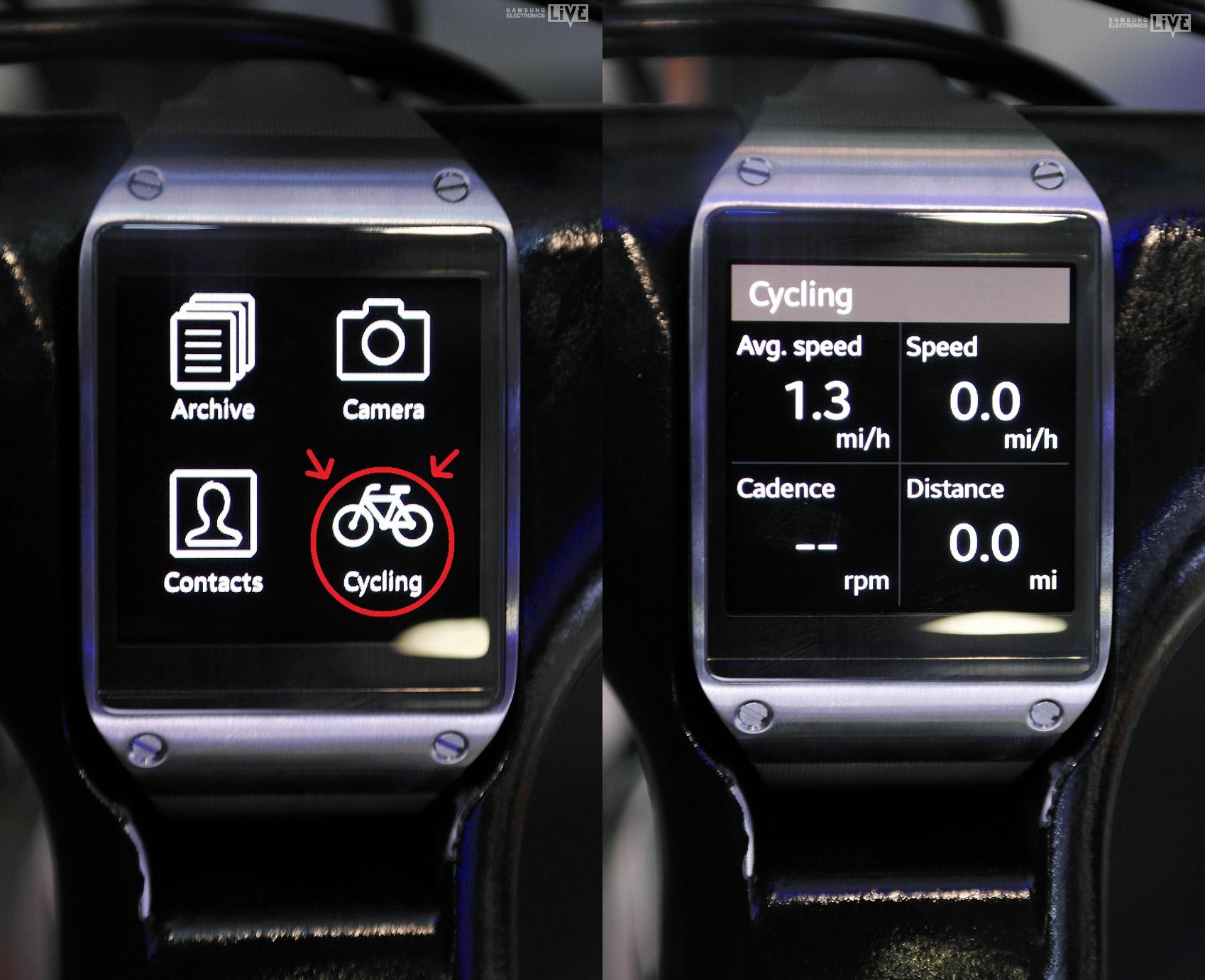 속도, 이동거리를 체크할 수 있는 Cycling App 사진 입니다.