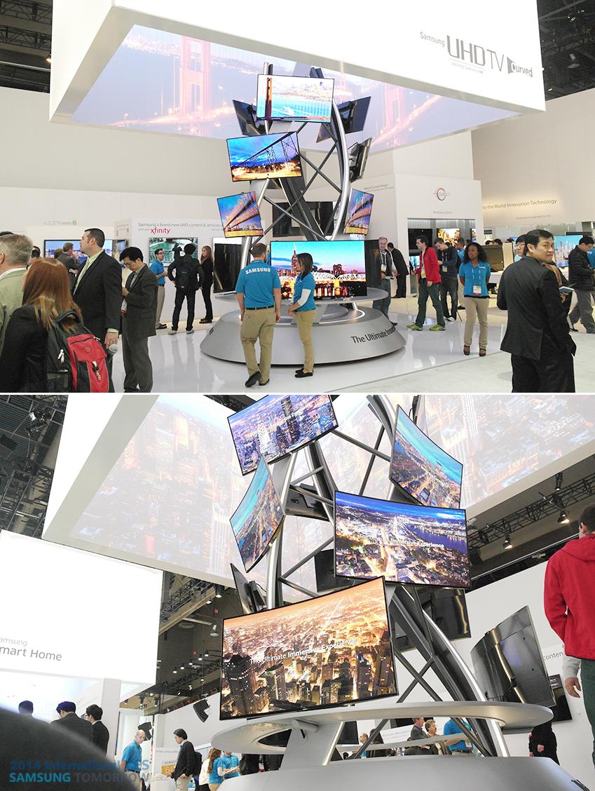삼성 커브드 UHD TV를 이용해 만든 작품 이미지입니다.