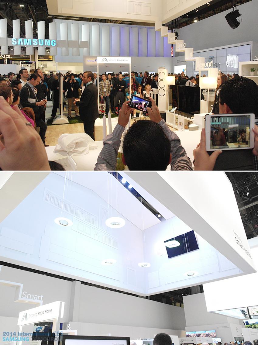 삼성 스마트 홈 코너 사진입니다.