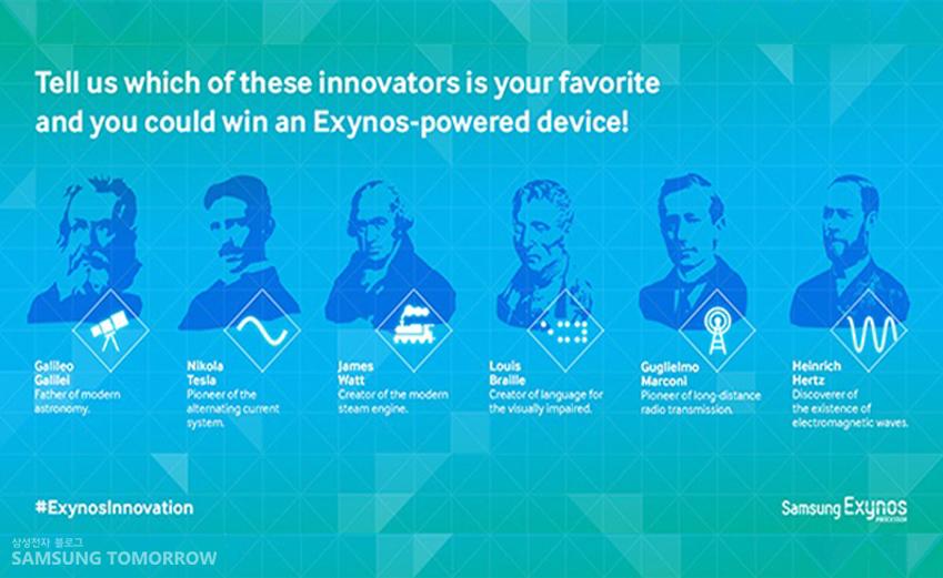 6명의 인물 중, 가장 혁신적인 발명가는?