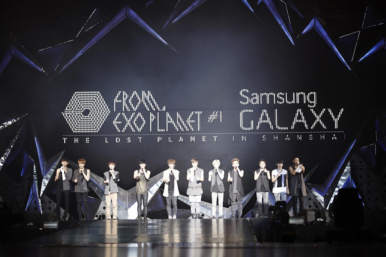 삼성전자의 유스올림픽 캠페인 발표 기자회견에 이어 열린 '엑소 월드투어 인 상하이' 콘서트 장면