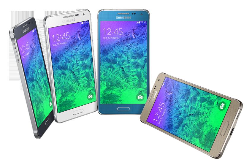 ▲메탈 프레임을 적용해 갤럭시 스마트폰 디자인을 재정의한 갤럭시 알파