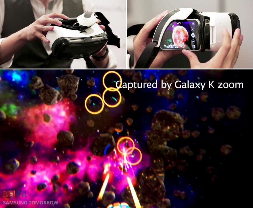 기어 VR에 갤럭시 줌2를 가져다대고 넓은 시야각을 체험해봤습니다. 또한, 기어 VR에서는 갤럭시 노트4의 쿼드HD 슈퍼 아몰레드 영상을 3D로 즐길 수 있는데요. 96º의 넓은 시야각을 갖고 있어 풍부한 화면을 즐길 수 있답니다