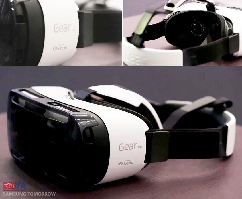 기어 VR의 디자인. 웨어러블 디바이스로써의 기어 VR을 기대해보겠습니다.