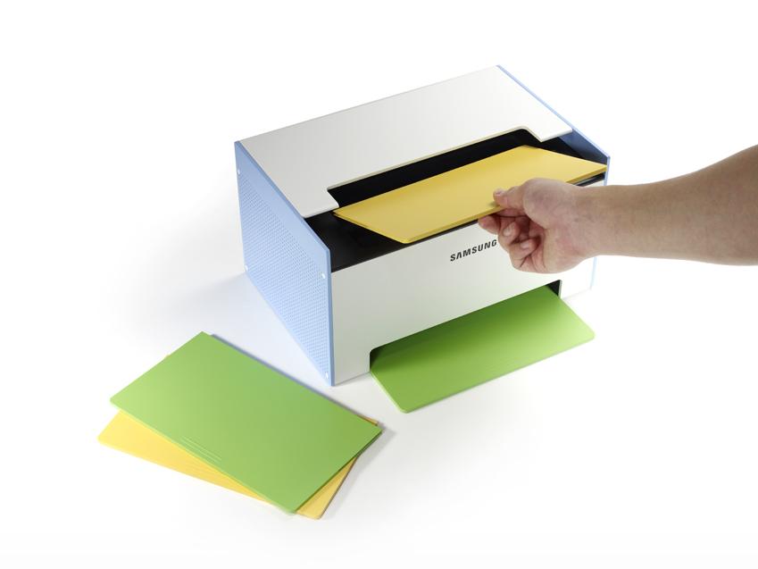 사용자의 기호에 따라 프린터의 색상을 변경할 수 있는 흑백 레이저 프린터 '메이트(Mate)'도 소개됐습니다.