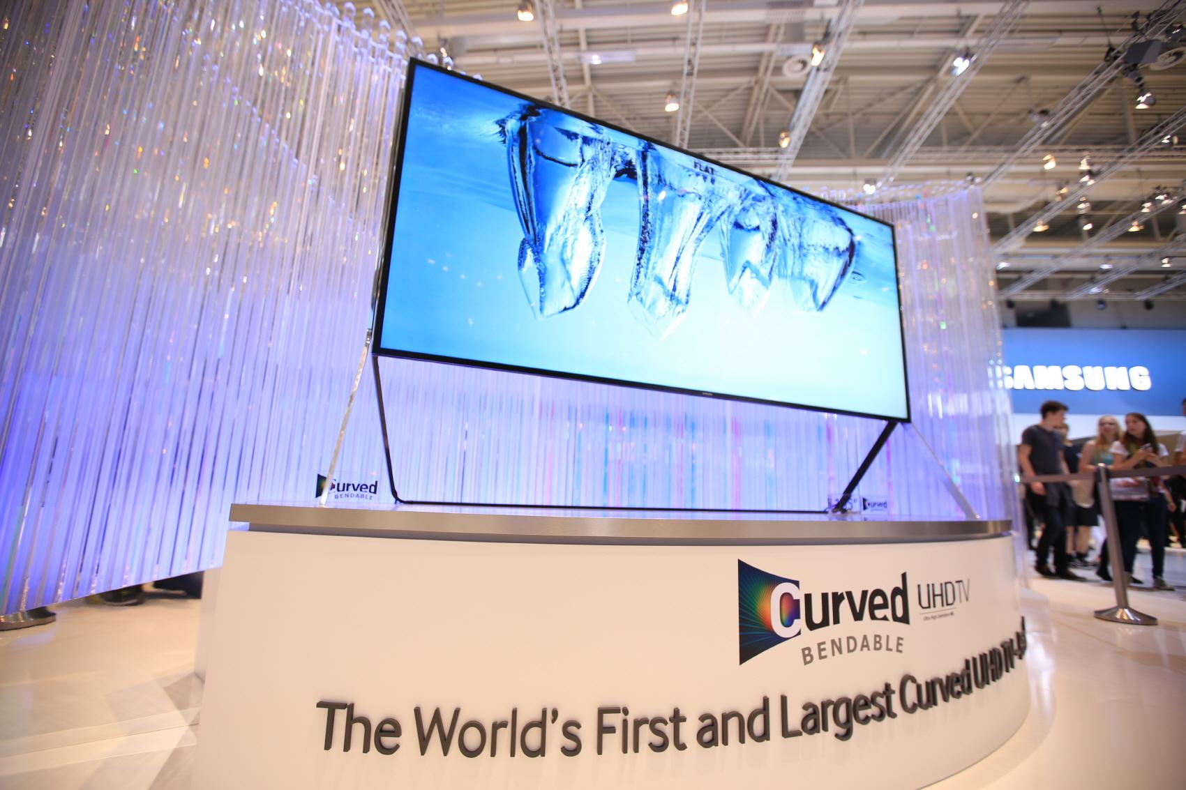 이것은 '삼성 커브드 UHD TV 벤더블'의 모습입니다.
