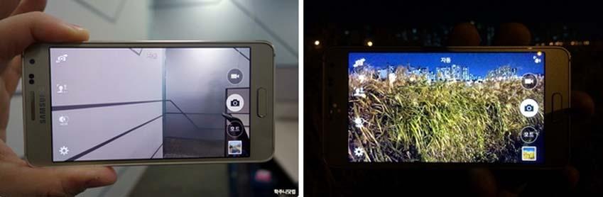 갤럭시 알파로 가메라 기능을 실행, 사진을 촬영했습니다