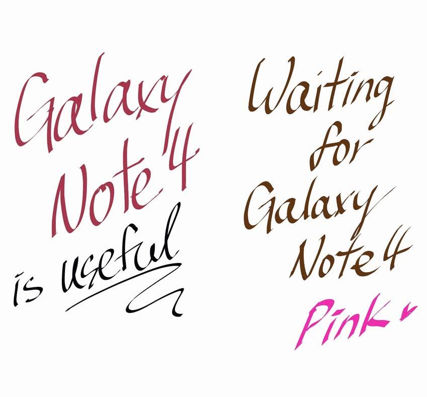 캘리그래피 펜을 이용해 글을 써봤습니다.