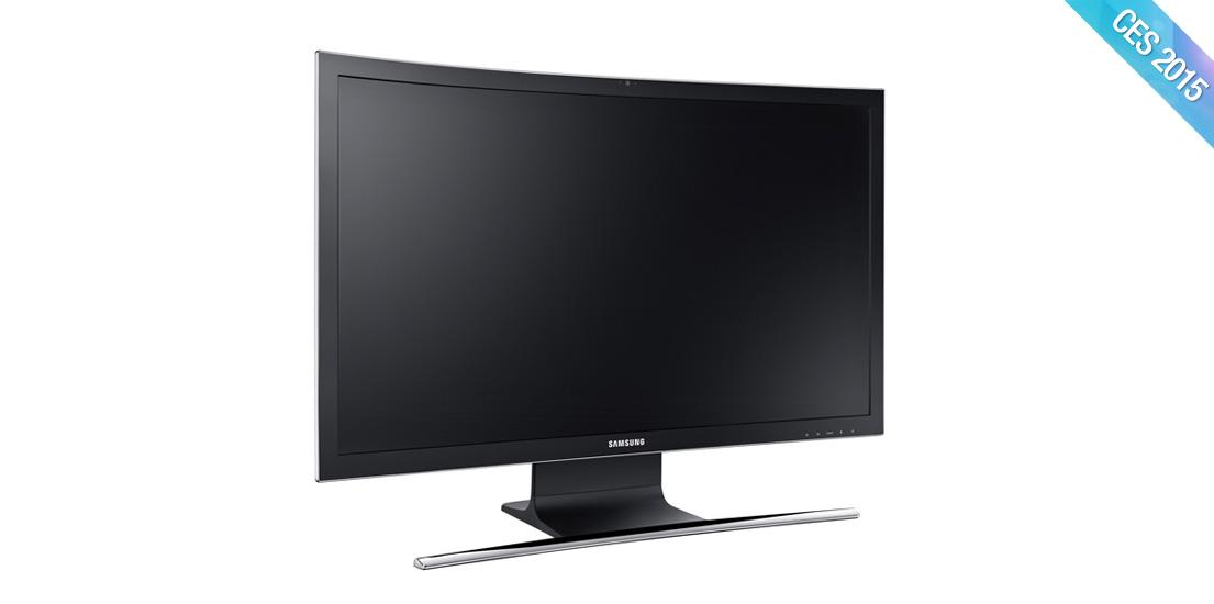 [CES 2015] 삼성전자, 업계 최초 커브드 일체형 PC '올인원PC 7 커브드' 공개