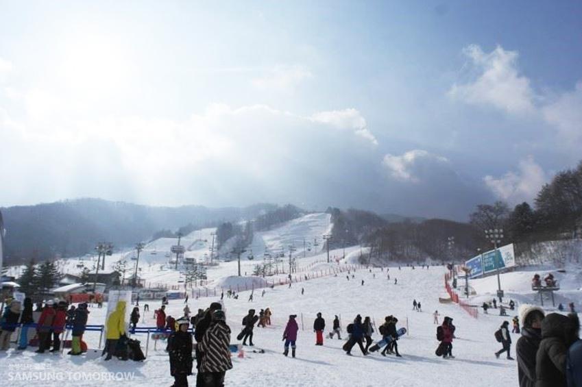 스키장 모습입니다.