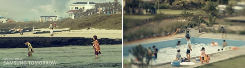 바닷가, 수영장 등에서도 늘 혼자 노는 종현이