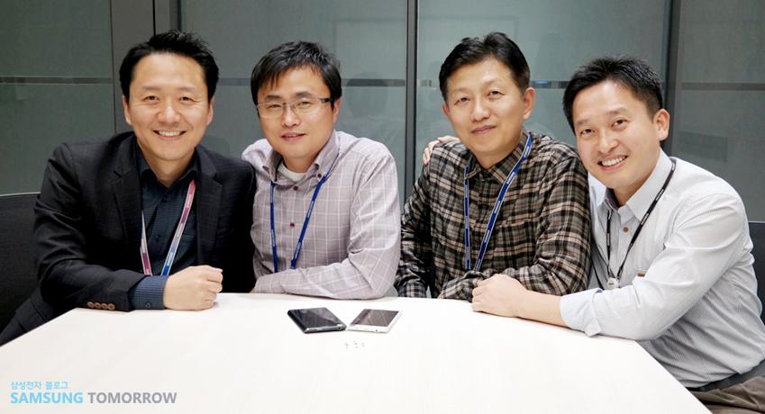 인터뷰에 응해준 삼성전자 시스템LSI사업부 직원의 단체 사진입니다.