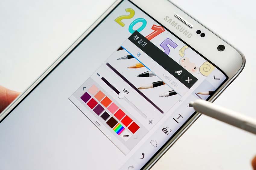 펜의 굵기와 색상을 선택합니다