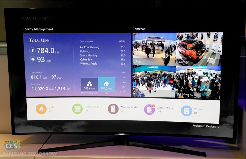에너지 사용량을 보여주는 삼성 스마트TV 사진입니다