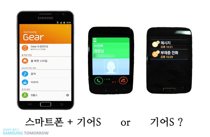 스마트폰+기어S or 기어S?