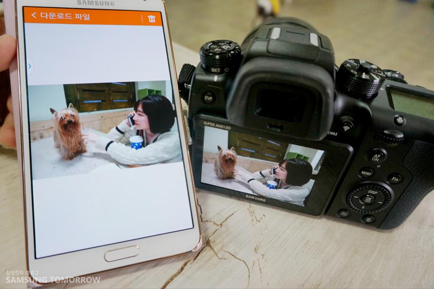 삼성 NX1으로 공유한 사진을 스마트폰으로 옮긴 모습입니다