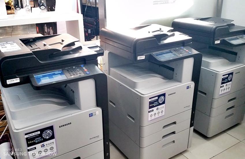 현재 연세대학교 내 설치된 삼성전자 프린터 모습입니다