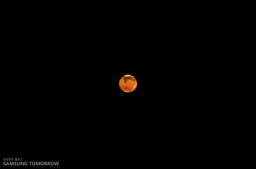 NX미니로 촬영한 화성