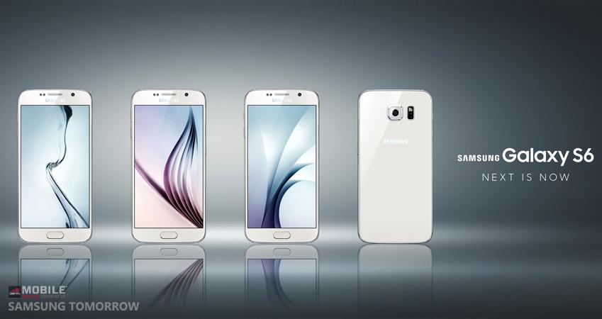 갤럭시 S6 제품 4개 이미지 컷입니다.