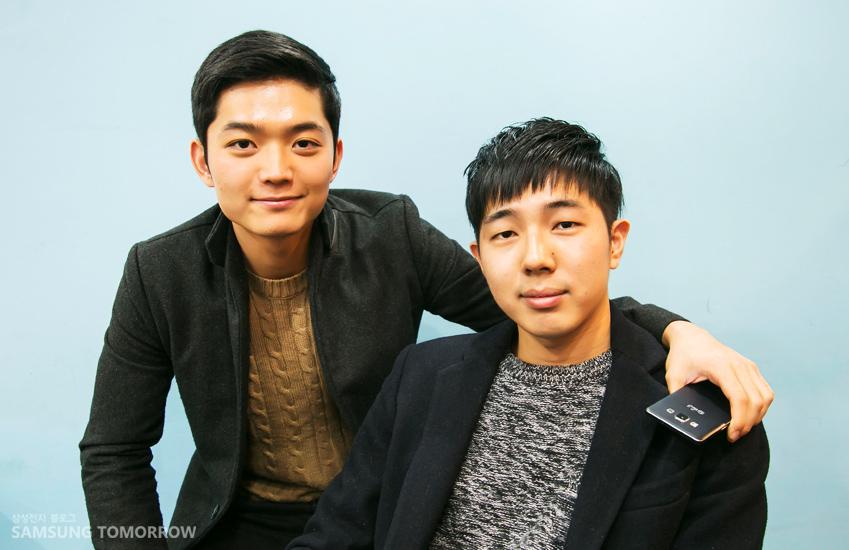 정민규(왼쪽) 정서현 씨의 모습입니다.