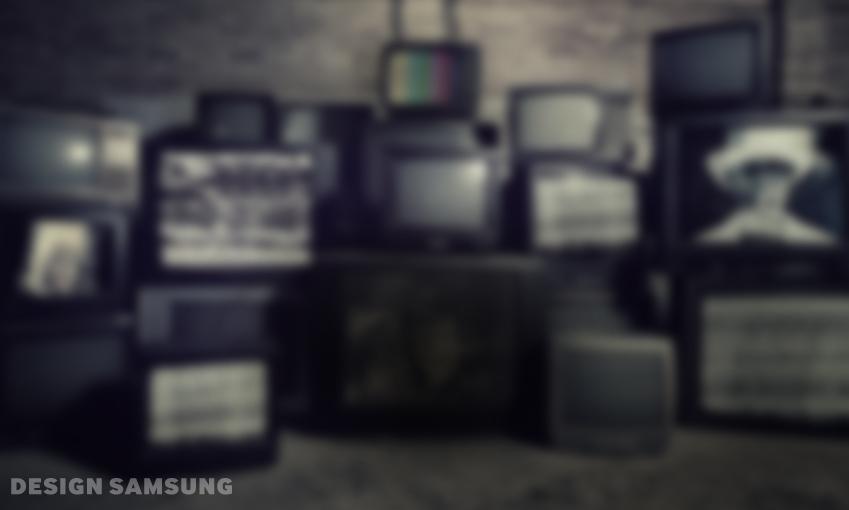 다양한 텔레비전이 놓여있습니다