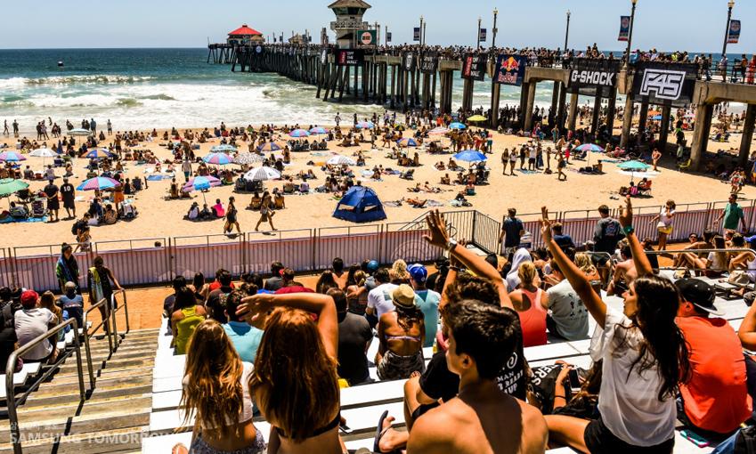 100년 넘도록 서프 시티(Surf City)로 불리고 있는 미국 캘리포니아의 헌팅턴비치에서 2015 반스 US 오픈 서핑대회가 개최됐습니다.