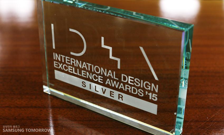 삼성전자 생활가전사업부의 '디자인 철학'은 출품이래 최초로 IDEA 2015에서은상을 수상했습니다