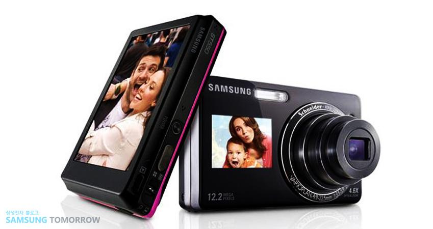 세계 최초로 '듀얼 LCD'를 장착, '셀피 열풍'을 선도했던 삼성 디지털 카메라 'ST550'