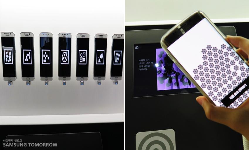 이모션 공간에서 디지털 자화상을 실행하고 있다.
