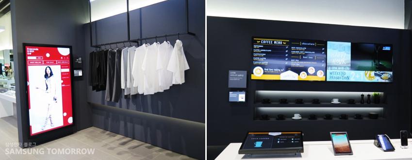 간이 쇼핑몰 형태로 꾸며진 숍 존에선 스마트폰을 통해 상품 정보를 실시간으로 확인할 수 있다.