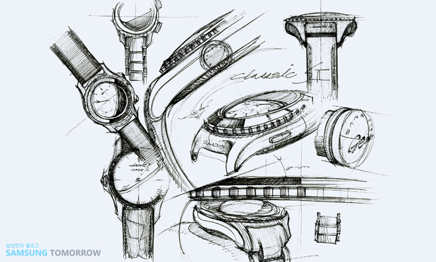 기어 s2를 위한 펜 스케치 입니다.