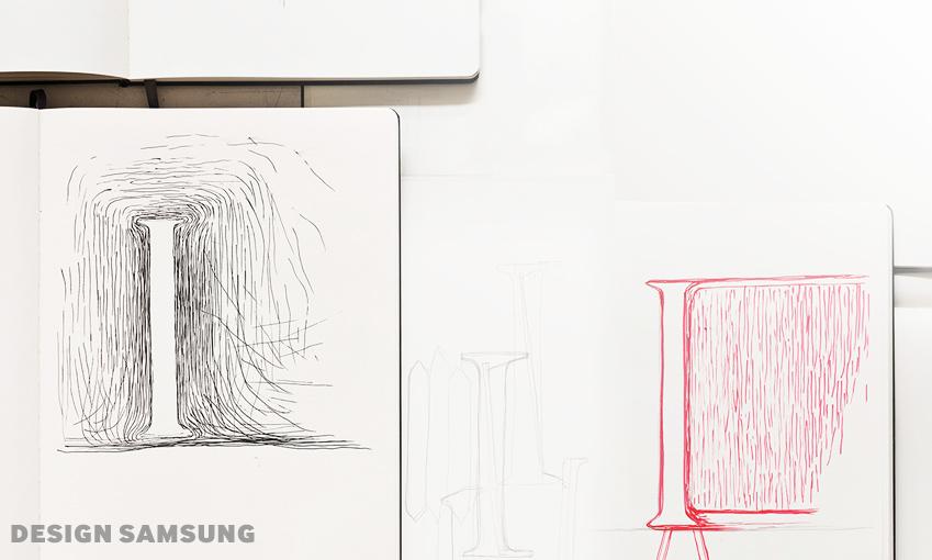 세리프 TV의 디자인 스케치입니다.