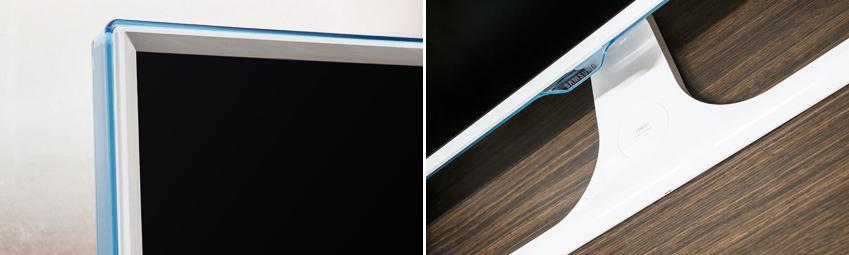화이트와 아쿠아 색상이 결합된 디자인은 자칫 건조하게 느껴질 수 있는 분위기에 청량감을 선사한다