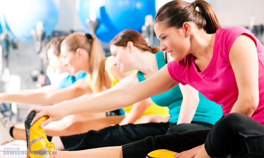 운동 전후 스트레칭을 충분히 해주세요.