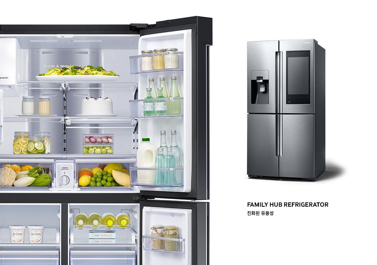 삼성 패밀리 허브 냉장고입니다.