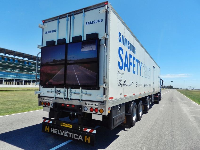 삼성 안전트럭의 도로 주행 모습