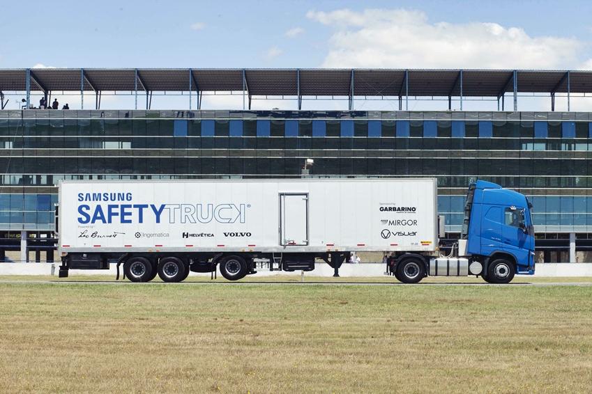 삼성 안전트럭의 측면 모습