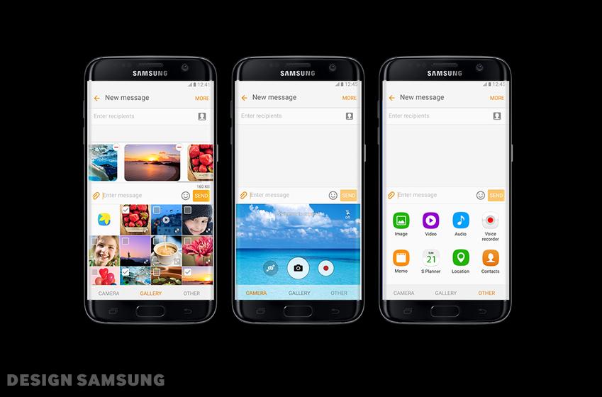 갤럭시 S7 크로스앱 구동 화면