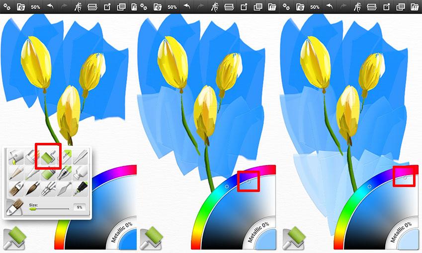 이땐 한 가지 색으로 통일시키기보다 색상을 조금씩 바꿔가며 밀어주는 느낌으로 처리하는 게 효과적이랍니다.