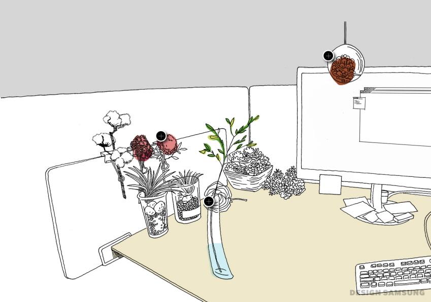 꽃과 꽃병 이미지