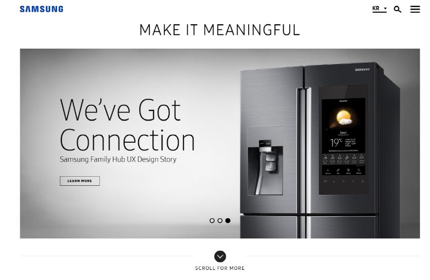 디자인삼성 웹사이트