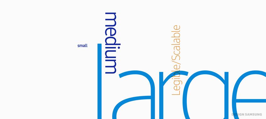 글자마다 적절한 공간감을 더해 가독성을 확보한 삼성원 폰트
