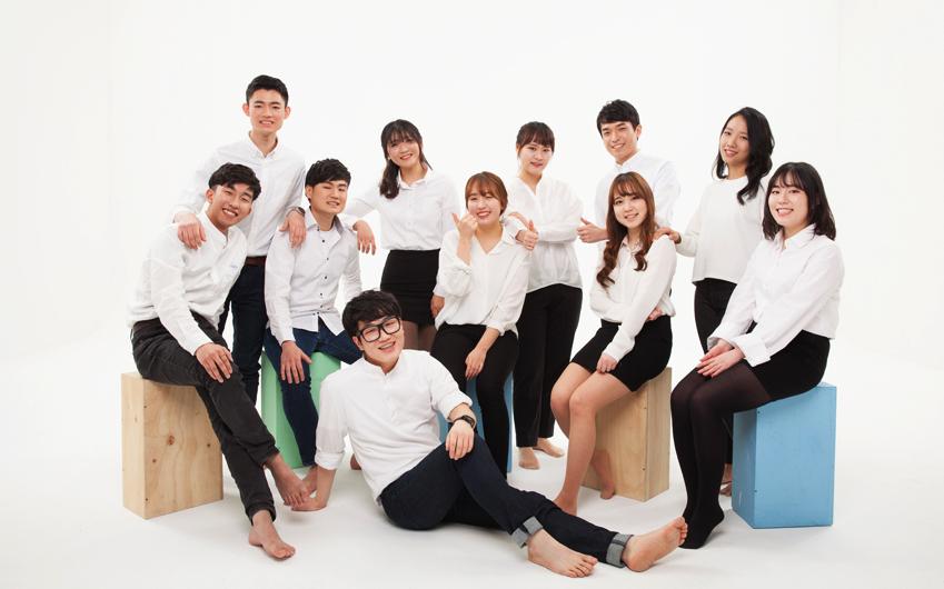 삼성전자 대학생 기자단 3기 단체사진