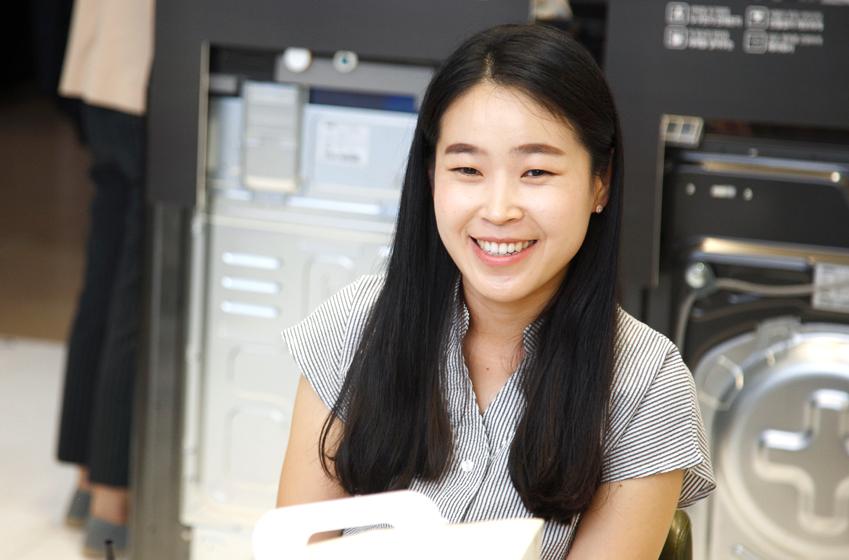 송복은 삼성전자 생활가전사업부 세탁기 제품매니저(PM) 대리
