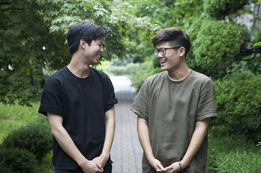 손길 팀원 최근(사진 왼쪽)∙서승환씨